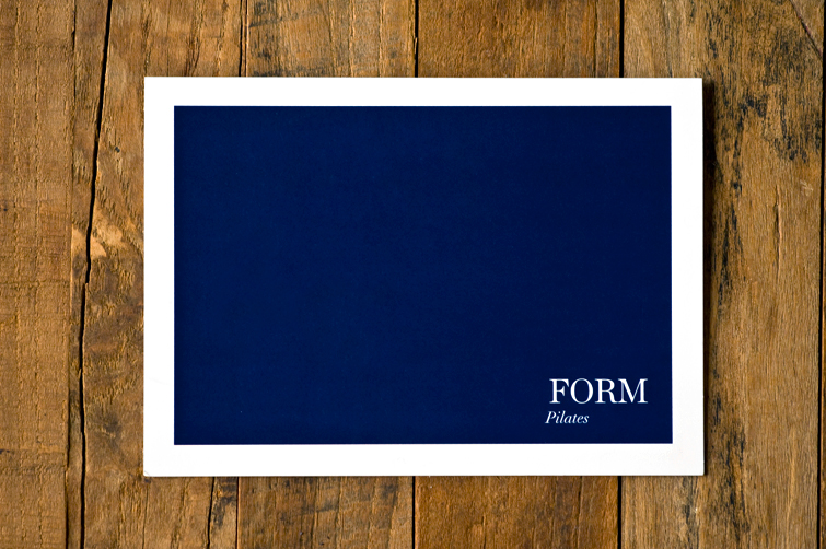 form pilates greeting card
